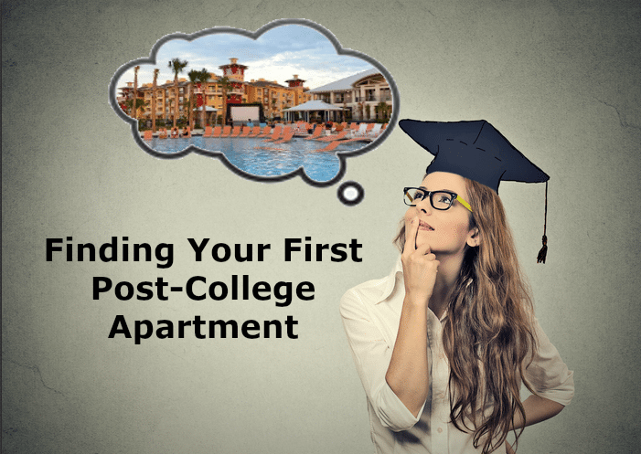 finding apartment after college