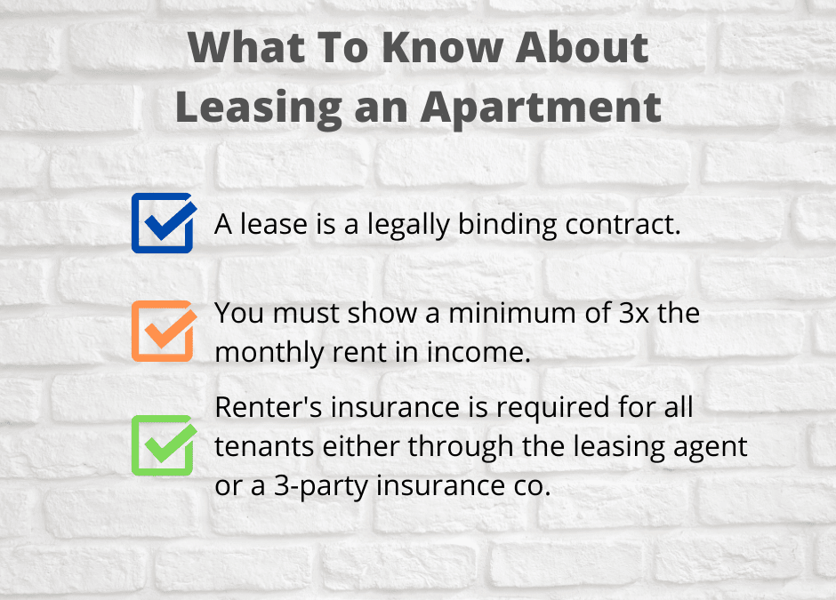 Things to Know about Leasing an Apartment